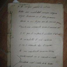 Otros: ESCRITOR CARLOS HERRERO LIBRO POETICO SICODONIA ? MANUSCRITO 58 PGS 1927 REPRESALIADO EN GUERRA CIV. Lote 94421550
