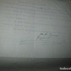 Otros: MANUSCRITO DE CARLOS HERRERO MUÑOZ DE SANTOMERA CARTA A OBISPADO DE MURCIA Y RESPUSTA. Lote 94465194