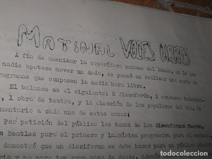 Otros: ALICANTE 1971 ANTIGUA PERIODICO ARTESANAL VOCES LIBRES SOCIEDAD CULTURA FUTBOL - Foto 5 - 96237759