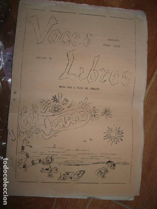 VOCES LIBRES PERIODICO ANTIGUO ALICANTE HERCULES ARTICULO JOSE RICO PEREZ 1971 JULIO (Coleccionismo para Adultos - Otros)