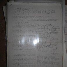 Otros: EL CHIMOSO PERIODICO ANTIGUO ALICANTE ARTESANAL 4 PAGINAS. Lote 96612087