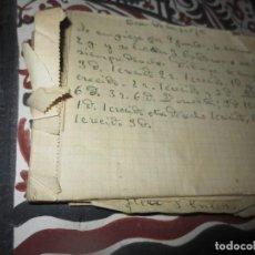 Otros: LIBRETA CON RECETAS ANTIGUAS DE COCINA MANUSCRITAS . Lote 104423307