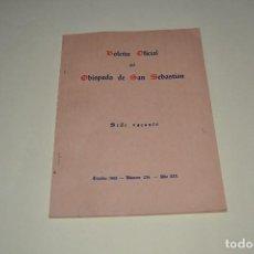Otros: BOLETIN OFICIAL DEL OBISPADO DE SAN SEBASTIAN 1968. Lote 105664143