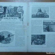 Otros: PAGINAS DE REVISTA LAS FALLAS VALENCIA(1900) RAMON DE CAMPOAMOR/ CAMPESINA. Lote 114218911