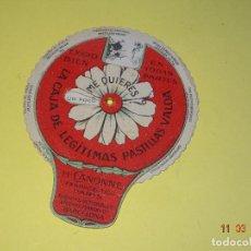 Otros: ANTIGUA RULETA *ME QUIERES O NO ME QUIERES* PUBLICIDAD DE PASTILLAS VALDA - AÑO 1920-30S.. Lote 114973155