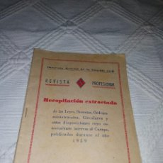 Otros: REVISTA PROFESIONAL GUARDIA CIVIL 1959. Lote 116161127