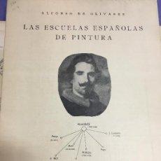 Otros: LAS ESCUELAS ESPAÑOLAS DE PINTURA - MADRID AÑO 1936 - MEDIDA 80X56 CM. Lote 120836443