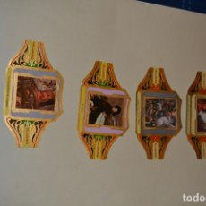 Otros: 4 VITOLAS DE LA SERIE PINTORES ESPAÑOLES DE PUROS ALVARO. Lote 123290675