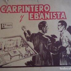Otros: ESCUELAS PROFESIONALES SALESIANAS. CURSO DE CARPINTERO Y EBANISTA, 2ª PARTE. Lote 123570855