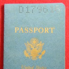 Otros: PASAPORTE COMPLETO PASSPORT UNITED STATES OF AMERICA USA - 1965 - GUERRA FRIA - 155 X 95 MM - VISAS. Lote 128128279