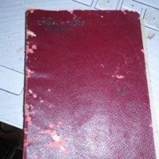 Otros: LIBRO ANTIGUO 1909 MANUSCRITO FARMACIA CON FORMULAS PUBLICIDAD ANOTACIONES. Lote 128313983