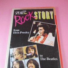 Otros: LIBRETO-ROCK STORY FROM ELVIS PRESLEY TO BEATLES EN INGLÉS-EDICIONES FORUM. Lote 131596562