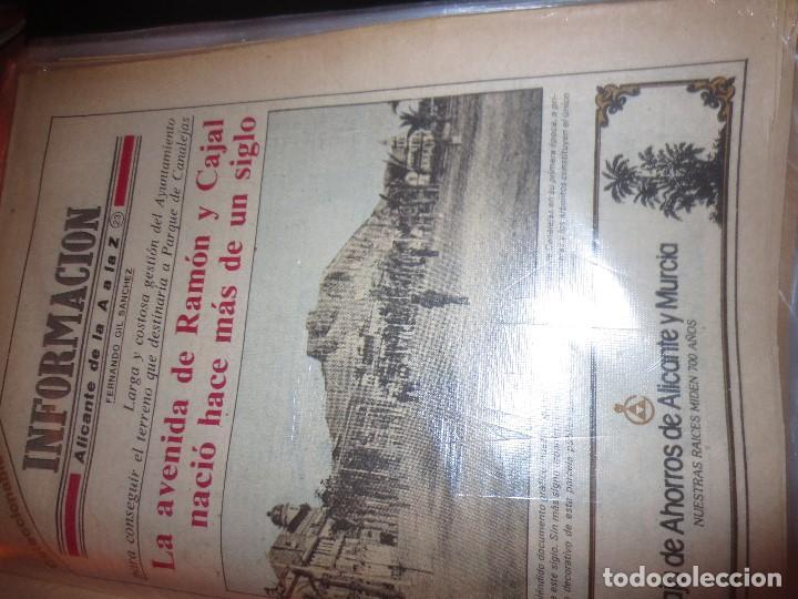Otros: coleccion completa periodicos antiguos DE LA A A LA Z DIARIO INFORMACION ALICANTE HISTORICO - Foto 9 - 132222206