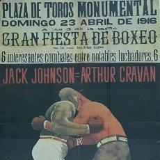 Otros: ESPECTACULAR CARTEL BOXEO JACK JOHNSON- ARTHUR CRAVAN DEL COMBATE DE 1916. Lote 136014314