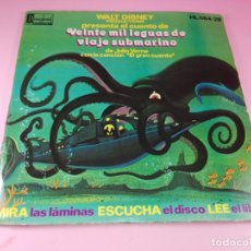 Otros: CUENTO+SINGLE-20000 LEGUAS VIAJE SUBMARINO-DISNEYLAND RECORD-CANCIÓN EL GRAN CUENTO-1976-COLECCIONIS. Lote 76439227
