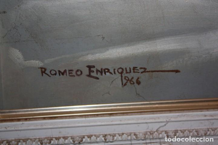 Otros: ROMEO BORJA ENRIQUEZ (Filipinas, 1920 - ??) OLEO SOBRE TELA FECHADO DEL AÑO 1966 - Foto 7 - 149407854