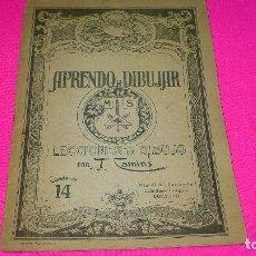 Otros: APRENDO A DIBUJAR, CUADERNO 14.. Lote 153253518