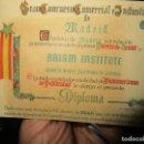 Otros: BRIAN INSTITUTO IDIOMAS 1º PREMIO DIPLOMA HONOR PAMMAMERICAM PUBLICIDAD MADRID 1955. Lote 154132950