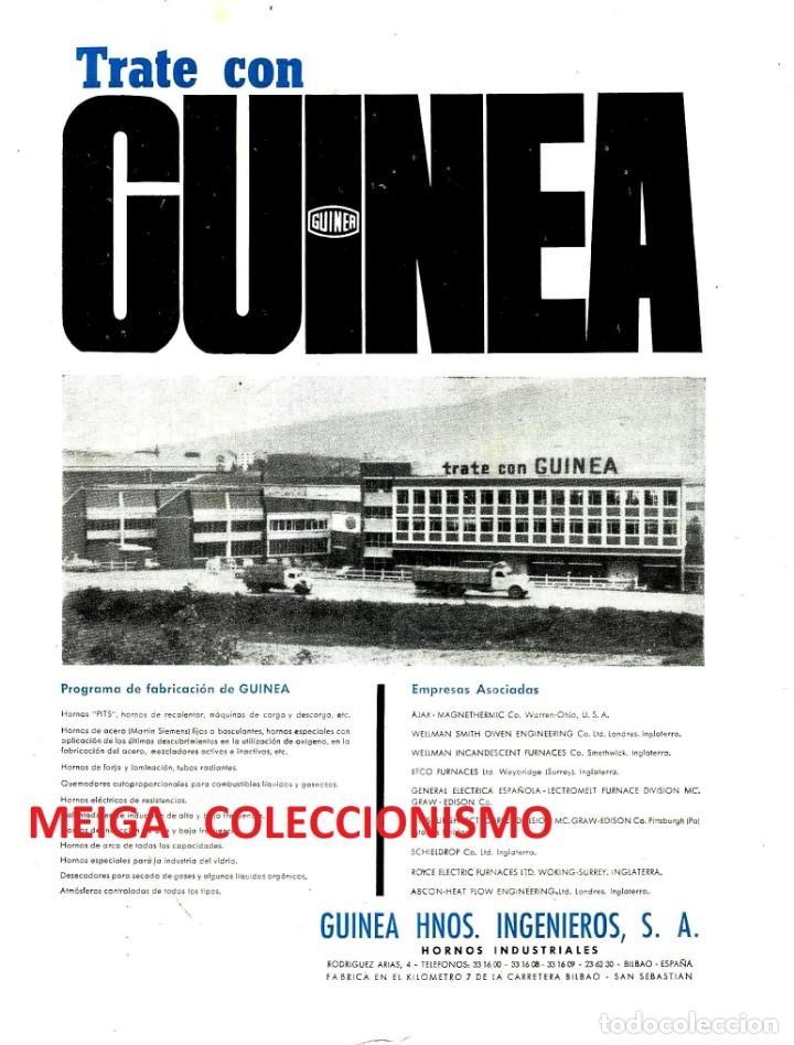 GUINEA HNOS. INGENIERIA. HORNOS INDUSTRIALES. FABRICA. PAIS VASCO. AÑO 1965. (Coleccionismo para Adultos - Otros)