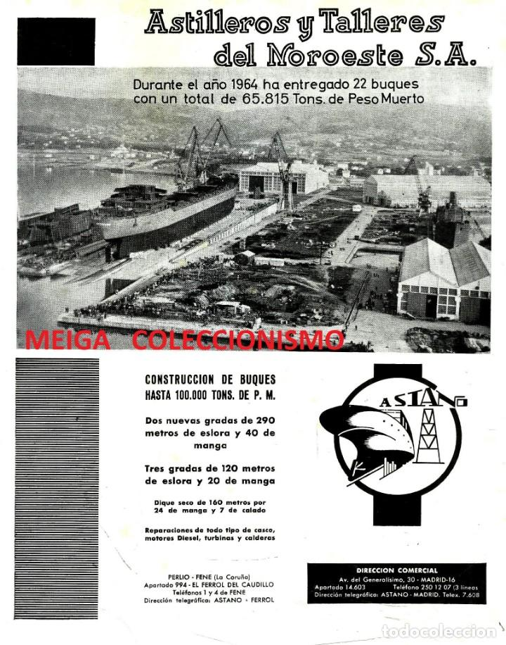 ASTILLEROS Y TALLERES DEL NOROESTE. CONSTRUCCIÓN. ASTILLERO. BUQUES. BARCOS. AÑO 1965. (Coleccionismo para Adultos - Otros)