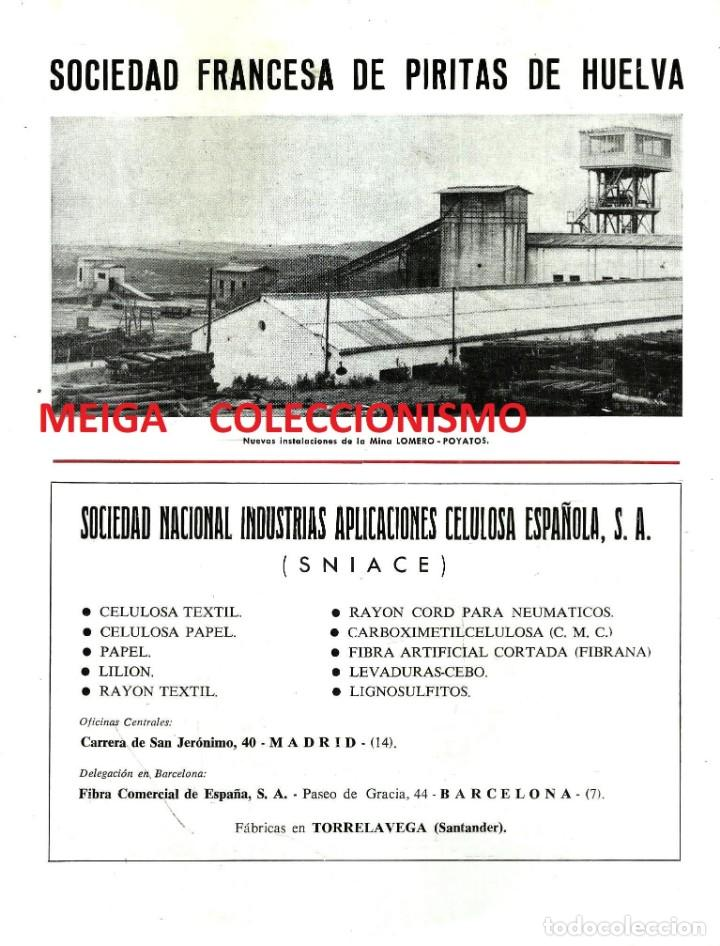 HUELVA. SOCIEDAD FRANCESA DE PIRITAS. MINA. LOMBRO-POYATOS. NUEVAS INSTALACIONES. AÑO 1965. (Coleccionismo para Adultos - Otros)