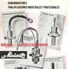 Outros: MINIWATT. VALVULAS. TUBOS. TRANSISTORES. RECTIFICADORES. COPRESA. MADRID. AÑO 1965.. Lote 158784534