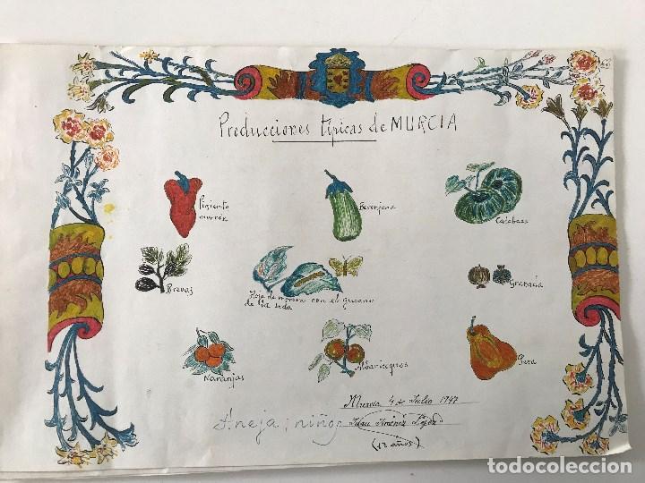 Murcia Dibujos Escoloares Año 1947 Escuela Graduada Baquero Grupo Escolar García Alix