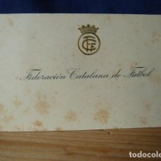 Otros: FEDERACION CATALANA DE FUTBOL-TARJETA ANTIGUA. Lote 160776574