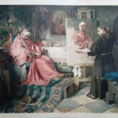Otros: ANTIGUO GRABADO DE LA OBRA DE TOBY EDWARD ROSENTHAL TÍTULO EL CARDENAL. MUNICH 1876. Lote 167832660