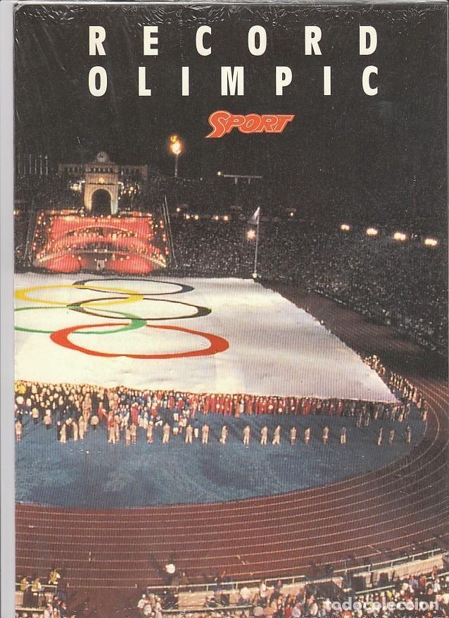 SPORT: RECORD OLIMPIC BARCELONA 1992: TROZO BANDERA OLIMPICA NUMERADO-3 EJEMPLARES - CERRADOS NUEVOS (Coleccionismo para Adultos - Otros)