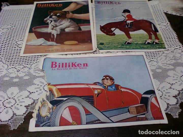 TRES HOJA DE LA REVISTA ARGENTINA BILLIKEN (Coleccionismo para Adultos - Otros)