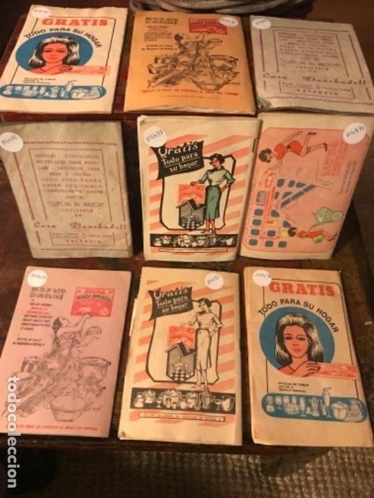 Otros: Lote 9 cartillas Cupones Regalo Comercial. Años50s - Foto 2 - 175235987