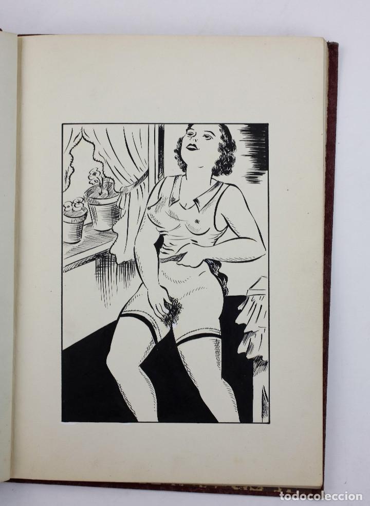 EROTISMO, AUTOPUBLICACIÓN MECANOGRAFIADA CON CUENTOS ERÓTICOS Y 2 DIBUJOS ORIGINALES EN TINTA. 1930S (Coleccionismo para Adultos - Otros)