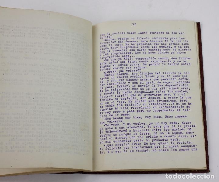 Otros: Erotismo, Autopublicación mecanografiada con cuentos eróticos y 2 dibujos originales en tinta. 1930s - Foto 7 - 178564723