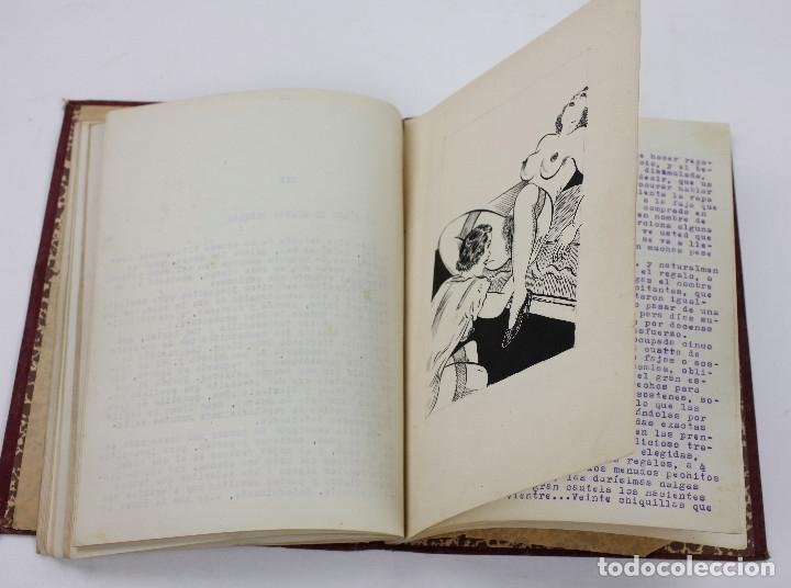 Otros: Erotismo, Autopublicación mecanografiada con cuentos eróticos y 2 dibujos originales en tinta. 1930s - Foto 8 - 178564723