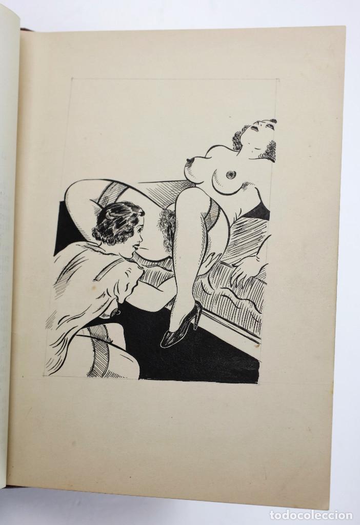 Otros: Erotismo, Autopublicación mecanografiada con cuentos eróticos y 2 dibujos originales en tinta. 1930s - Foto 9 - 178564723