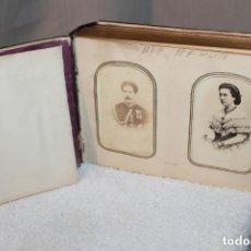 Otros: ALBÚM DE FOTOGRAFÍAS DE CAREY CON INSCRUSTACIONES DE PLATA Y ORO BAJO. Lote 182495903
