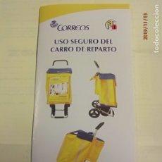 Otros: CORREOS - FOLLETO: USO DEL CARRO DE REPARTO.. Lote 183304272