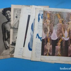 Otros: 2 POSTERS TRIPTICOS Y VARIOS RECORTES ANTIGUOS DE TEMA EROTICO, AÑOS 1950 - VER FOTOS ADICIONALES. Lote 187615253
