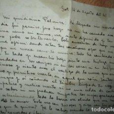 Otros: MANUSCRITO CARTA ORIGINAL DEL CERAMISTA DE VALENCIA Y ALCORA JAIME SCALS DESDE SOT 1941 . Lote 187665713