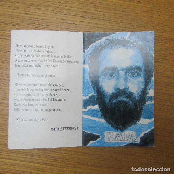 RECORDATORIO MUERTO ORGANIZACION TERRORISTA ETA, TRANSICION EUSKADI PAIS VASCO (Coleccionismo para Adultos - Otros)