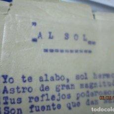 Otros: AL SOL OBRA DE MEDIUM SONAMBULA JUANA MARTINEZ ALICANTE 1925 RELACIONADA CON ESPIRITISMO Y BRUJERIA. Lote 189464036