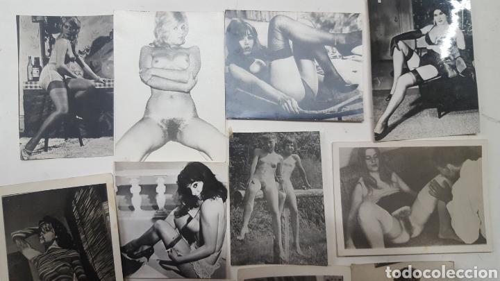 EROTICA PORNOGRAFIA: LOTE 17 FOTOGRAFIAS ANTIGUAS DESNUDOS FEMENINOS DE UNOS 10X8 CMS (Coleccionismo para Adultos - Otros)