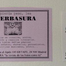 Otros: LITERBASURA PEGATINA Y FLYERS DE ESTA PUBLICACIÓN DE LITERATURA BASURA. Lote 193307797
