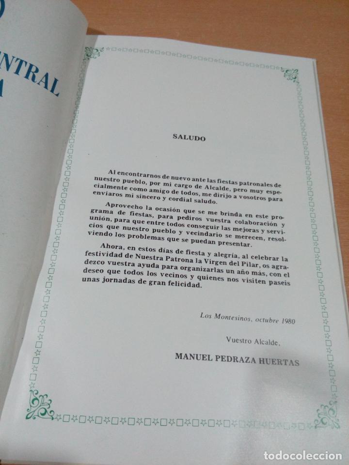 Otros: revista programa fiestas los Montesinos - Alicante 1980 - buen estado - ver fotos - Foto 3 - 194108963