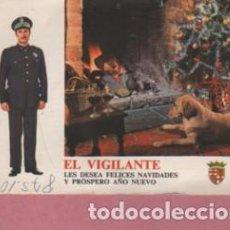 Otros: FELICITACION NAVIDAD EL VIGILANTE DE BARCELONA 1974. Lote 195202671