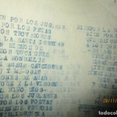 Otros: MURCIA CARLOS HERRERO OBRA ORIGINAL INEDITA VILLANCICO O SIMILAR. Lote 212719420