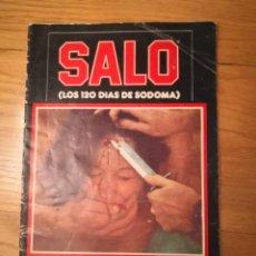 Otros: SALÓ O LOS 120 DÍAS DE SODOMA · PASOLINI · 1977 REVISTA LIBRO CATALOGO SALO. Lote 233334565