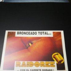 Otros: POSTAL BRONCEADO TOTAL RAIDOREE CON EL CARRETE DORADO COLECCION POSTALES. Lote 234131995