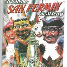 Otros: PROGRAMA DE FIESTAS DE SAN FERMIN DE ALDAPA AÑO 2000. Lote 234904040